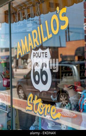 Amarillo's store on the historic Route 66. Texas. USA - Stock Photo
