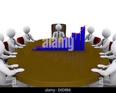 Sales meeting amongst businessmen - Stock Photo
