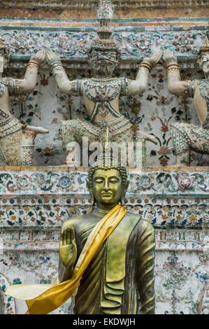 Buddha Statue at the Wat Saket(Golden Mount) Bangkok Thailand. - Stock Photo