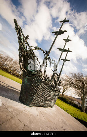 The National Famine Memorial in County Mayo Ireland - Stock Photo