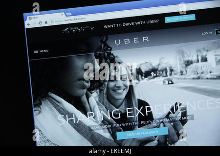 uber website screenshot - Stock Photo