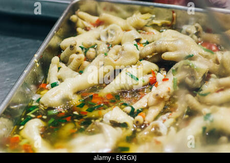 Chicken Feet Spicy Chinese Delicacies Asian Food Stock Photo