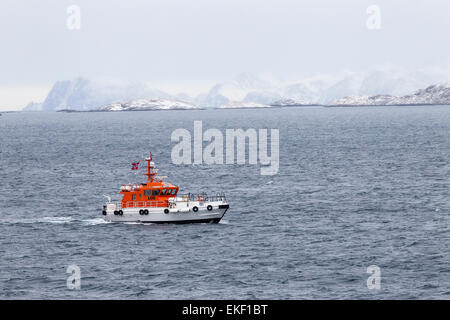 Dockstavarvet design Pilot boat Tromso Norway. - Stock Photo