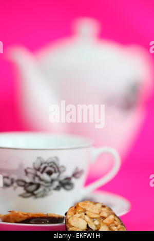 bright and uplifting tea time with florentines Jane Ann Butler Photography JABPD004 - Stock Photo