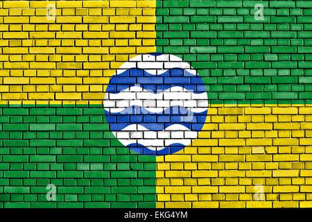 flag of Nairobi painted on brick wall - Stock Photo