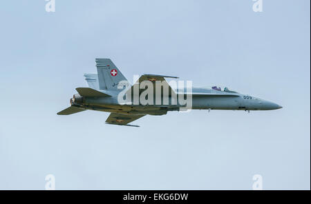 Swiss Air Force F/A-18 Hornet RIAT 2014 - Stock Photo
