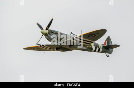 RAF BBMF Spitfire MK356 LFIXe - Stock Photo