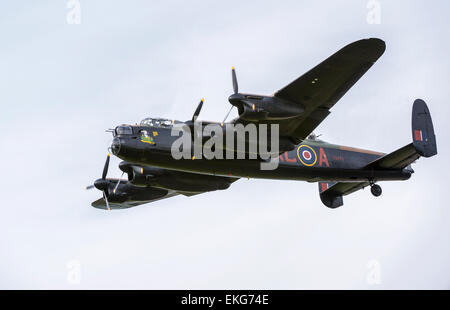 RAF Battle of Britain Lancaster bomber at RIAT 2014 - Stock Photo