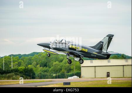 Breitling Jet Team Aero L-39C Albatross aircraft - Stock Photo