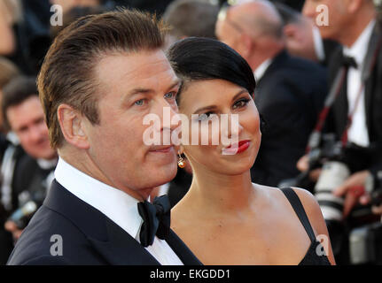 16.MAY.2012. CANNES  ALEC BALDWIN AND HILARIA THOMAS ATTEND OPENING CEREMONY AND 'MOONRISE KINGDOM' PREMIERE DURING - Stock Photo