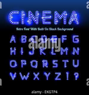 Retro cinema font - Stock Photo