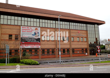 Northern Ireland blood transfusion service building - Stock Photo