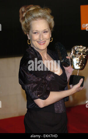 12.FEBRUARY.2012. LONDON  MERYL STREEP ATTENDS THE ORANGE BRITISH ACADEMY FILM AWARDS AFTER PARTY AT THE GROSVENOR - Stock Photo