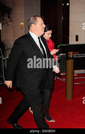 12.FEBRUARY.2012. LONDON  HARVEY WEINSTEIN ATTENDS THE ORANGE BRITISH ACADEMY FILM AWARDS AFTER PARTY AT THE GROSVENOR - Stock Photo