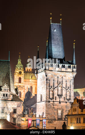 Charles Bridge With Mala Strana And Judith Towers Prague Symbols