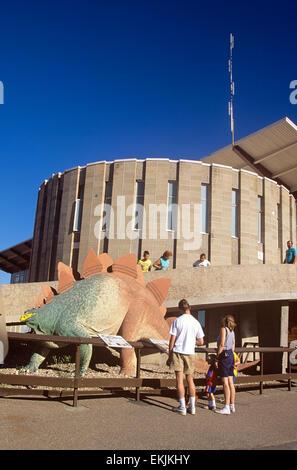 Entrance to Visitors Center, Dinosaur National Monument, Utah, USA. - Stock Photo