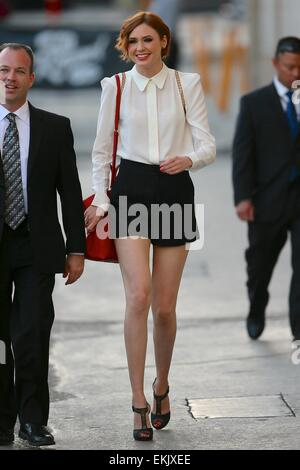 Celebrities arrive for a taping of 'The Jimmy Kimmel Live!' show  Featuring: Karen Gillan Where: Los Angeles, California, - Stock Photo
