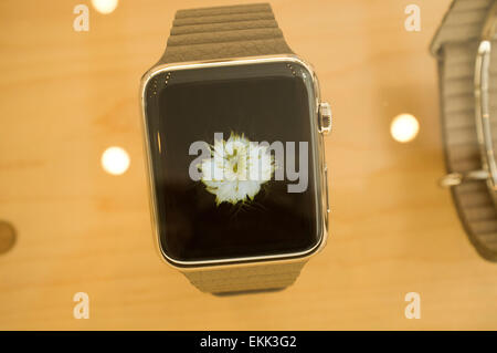 Adelaide, Australia. 11th April 2015. Apple watch is available for customers at Apple stores in Adelaide Australia - Stock Photo