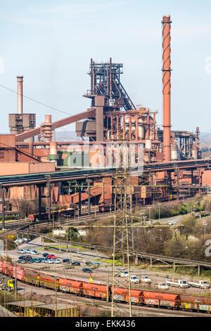 Thyssen-Krupp steel works in Duisburg blast furnace No. 8 and 9, 'Schwelgern,' Europe's biggest steel production location