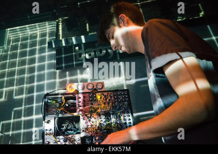 James Holden performing live - Stock Photo