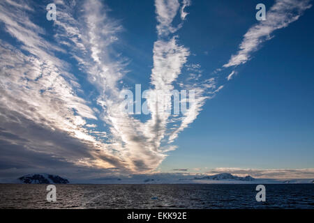 The Weddell Sea near the coast of the Antarctic Peninsula in Antarctica. - Stock Photo