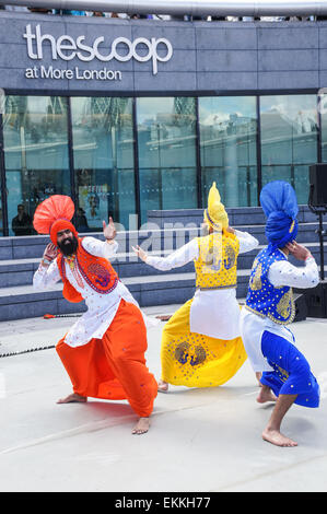 The Vaisakhi (the Sikh New Year) Festival celebrations at City Hall and The Scoop in London, England United Kingdom - Stock Photo