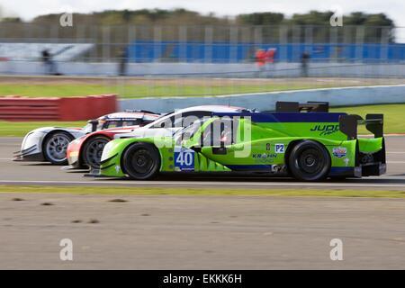 Silverstone, Northants, UK. 11th Apr, 2015. European Le Mans Series Round 1. Krohn Racing Ligier JSP2 LMP2 driven - Stock Photo