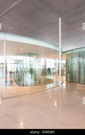 France, Lens, Interior view of the Louvre-Lens designed by SANAA - Stock Photo