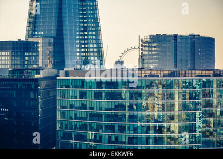 Buildings of London city - Stock Photo