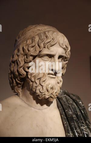 Bust of Pluto (Greek Hades). God of the underworld. Roman copy. National Roman Museum. Palazzo Altemps. Rome. Italy. - Stock Photo