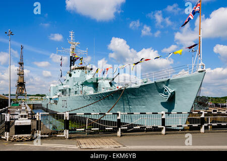 HMS Cavalier is the last operational Second World War C-class destroyer of the Royal Navy, now retired and preserved - Stock Photo