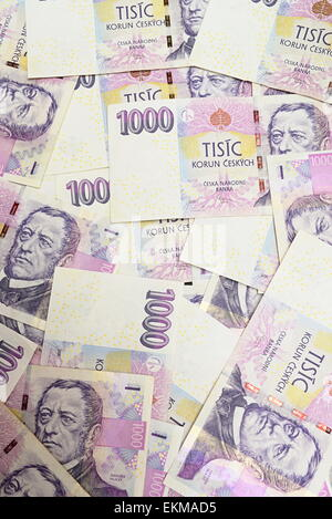 czech crown ceska koruna national money in czech republic - Stock Photo
