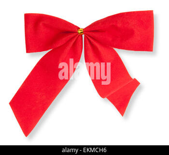 red bow on the isolated white background - Stock Photo