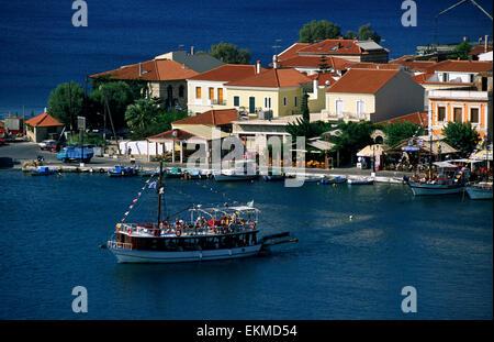 greece, northeastern aegean islands, samos island, pythagorion, port - Stock Photo