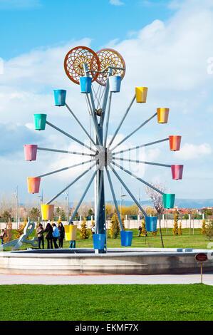 Ferris wheel in luna park - Stock Photo