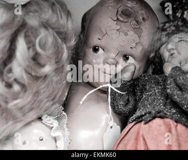 Old Vintage doll - Stock Photo