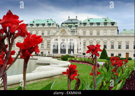 The historic baroque building of Belvedere Palace, Vienna, Austria. - Stock Photo
