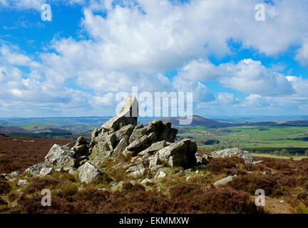 The Stiperstones,  a national nature reserve in Shropshire, England UK - Stock Photo