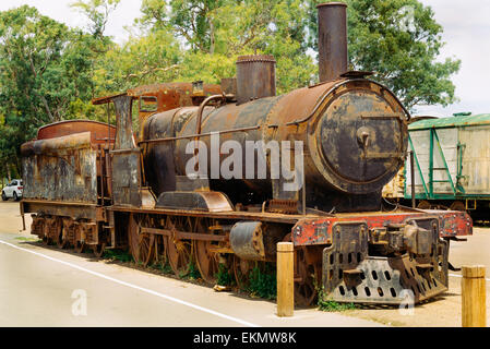 Old Discarded Train, Murray Bridge, SA, Australia, - Stock Photo