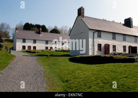 Former workers cottages at Blaenavon Ironworks, Torfaen, Wales, UK - Stock Photo