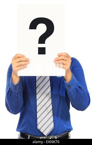 Man With A Question - Stock Photo