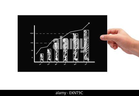 paper with chart - Stock Photo