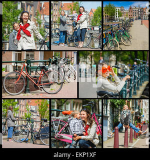 Tourists in Amsterdam. - Stock Photo