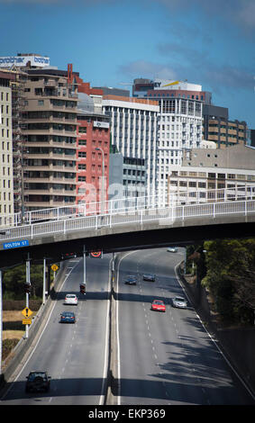 Wellington ring road, north island, New Zealand. - Stock Photo