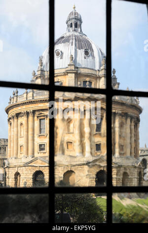 The historic Radcliffe Camera viewed from the University Church of Saint Mary the Virgin, Oxford England, UK. Stock Photo
