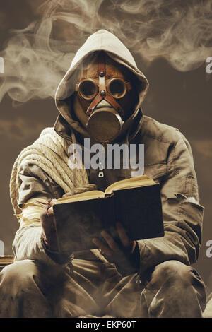 Post apocalyptic student - Stock Photo
