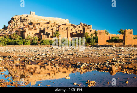Ksar of Ait Ben Haddou, a striking example of southern Moroccan architecture, Ouarzazate Province, Morocco - Stock Photo