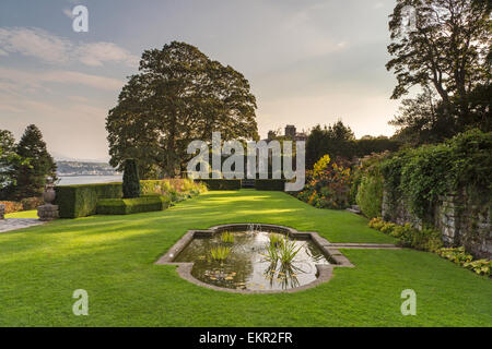 Evening light over Plas Newydd Country House and Gardens, Anglesey, Wales. UK - Stock Photo