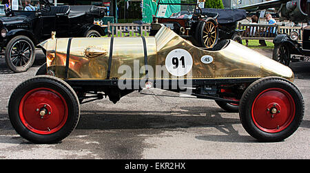 'The Golden Ford' 1911 Model T Ford Racer at Brooklands Double Twelve Motorsport Festival 2014 - Stock Photo