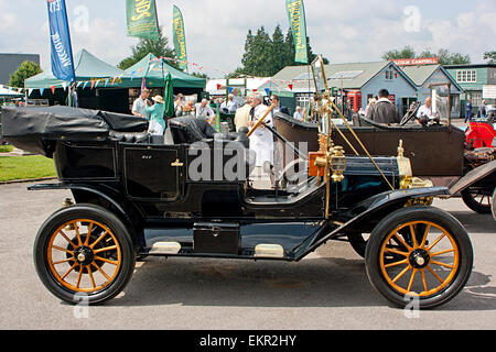 A 1911 Model T Ford at Brooklands Double Twelve Festival 2014, Weybridge, Surrey - Stock Photo
